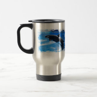 Jumping Orca Whale Travel Mug