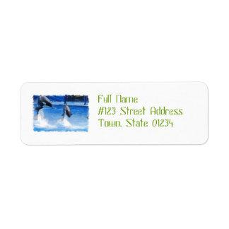 Jumping Orcas Return Address Label
