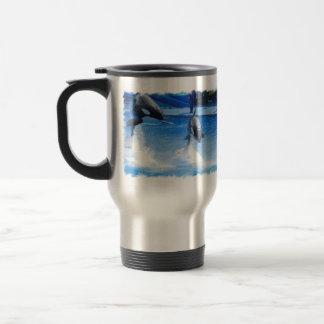Jumping Orcas Mug