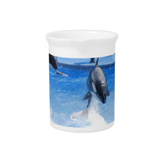 Jumping Orcas Drink Pitchers