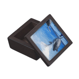 Jumping Orcas Premium Keepsake Boxes