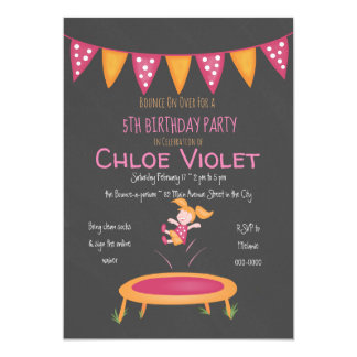 Jumping Party Invitation