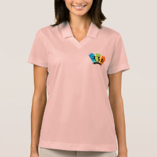 Jumping people silhouettes colorful - polo shirt