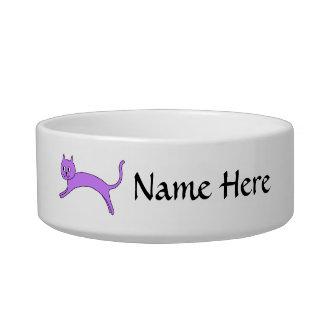 Jumping Purple Cat. Bowl