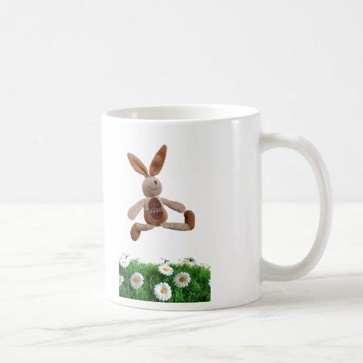 Jumping rabbit coffee mug