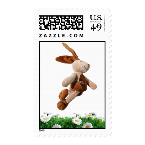 Jumping rabbit postage stamps