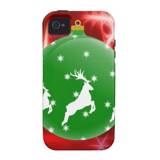 Jumping Reindeer Ornament iPhone 4/4S Case