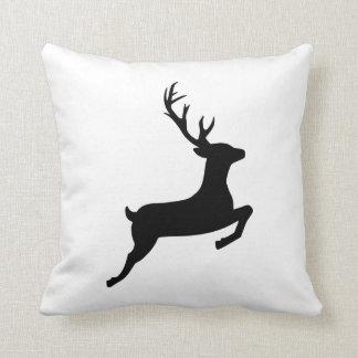 Jumping reindeer pillow