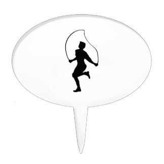 Jumping Rope Exercise Cake Toppers