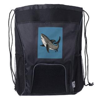 Jumping Shark Drawstring Backpack