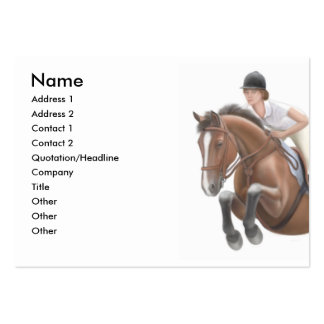 Jumping Show Horse Business Card