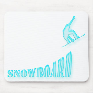 Jumping Snowboarder Mousepad