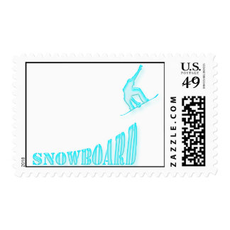 Jumping Snowboarder Postage Stamp