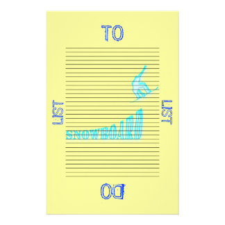 Jumping Snowboarder To Do List Template Customized Stationery
