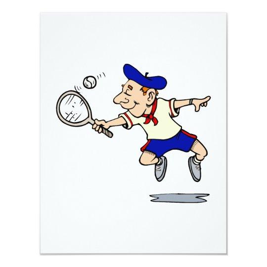 Jumping Tennis Kid Card