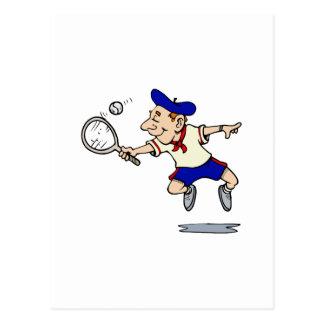 Jumping Tennis Kid Postcard