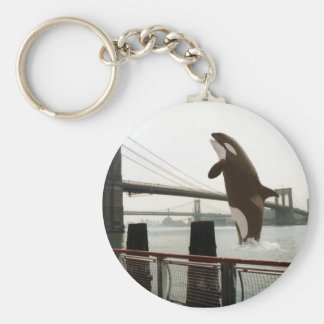 Jumping the Brooklyn Bridge Keychain