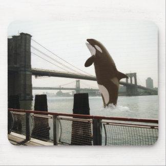 Jumping the Brooklyn Bridge Mousepad