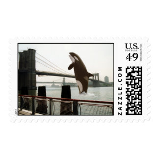 Jumping the Brooklyn Bridge Stamp