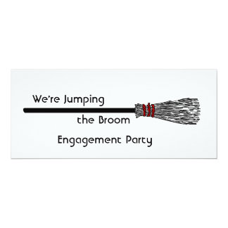 Jumping the Broom Engagement Card