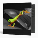 Jumping Tree Frog Vinyl Binder