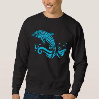 Jumping Tribal Blue Dolphin Sweatshirt