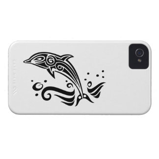 Jumping Tribal Dolphin iPhone 4 Cover