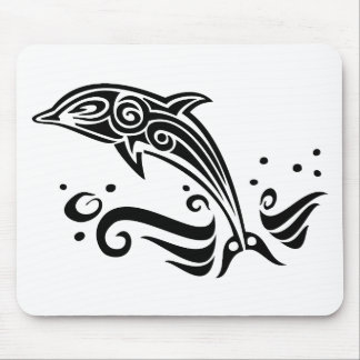 Jumping Tribal Dolphin Mouse Pad