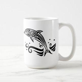 Jumping Tribal Dolphin Mugs