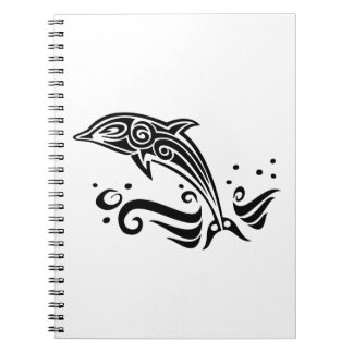 Jumping Tribal Dolphin Notebook