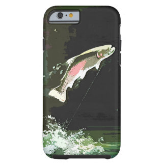JUMPING TROUT ART TOUGH iPhone 6 CASE