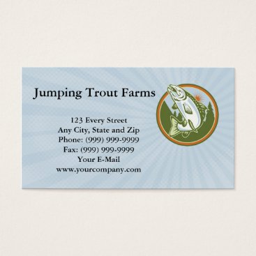 Professional Business Jumping Trout Farms Business card