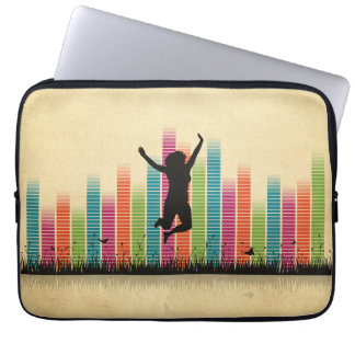Jumping Women In Nature Laptop Sleeve