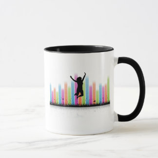 Jumping Women In Nature Mug