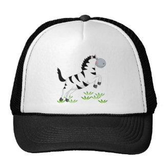 Jumping zebra trucker hat