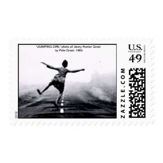 """JumpingGirl copy.ai, """"JUMPING GIRL"""" photo of Je... Postage"""