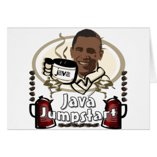 Jumpstart de Obama Java Tarjeta De Felicitación