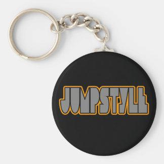 Jumpstyle Basic Round Button Keychain