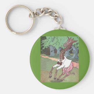 Jumpy Giraffe Basic Round Button Keychain