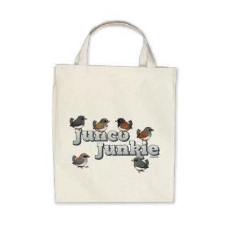 Junco Junkie Tote Bags