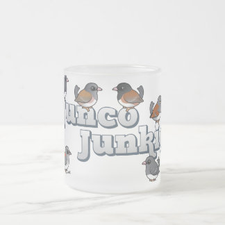 Junco Junkie Frosted Glass Coffee Mug