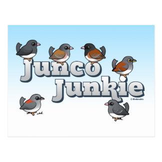 Junco Junkie Post Card