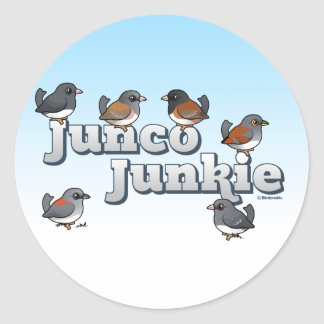 Junco Junkie Stickers