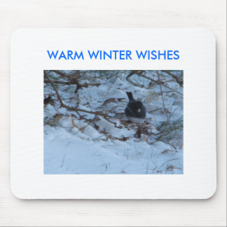 Junco & Snow, WARM WINTER WISHES Mouse Pad