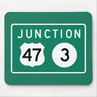Junction 47-3, Traffic Sign, USA Mousepad