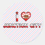 Junction City, CA Pegatina Redonda