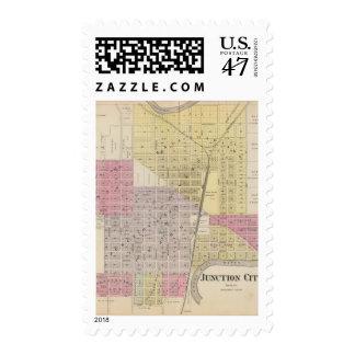 Junction City, Davis County, Kansas Postage