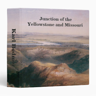 Junction of the Yellowstone and Missouri by Bodmer 3 Ring Binder