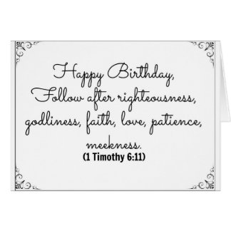 June 11 Bible Birthday card with 1 Timothy verse