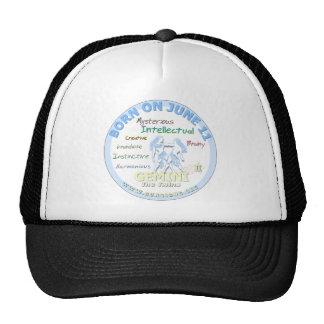 June 11th Birthday - Gemini Hat